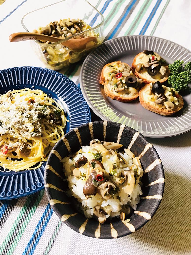 【おいしいレシピ】たっぷりキノコのオイルマリネ